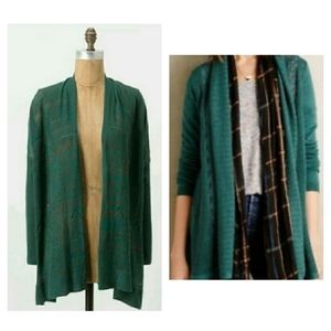 Anthropologie Sparrow Bonfire Open Front Cardigan